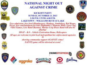 Night Out Against Crime Photo