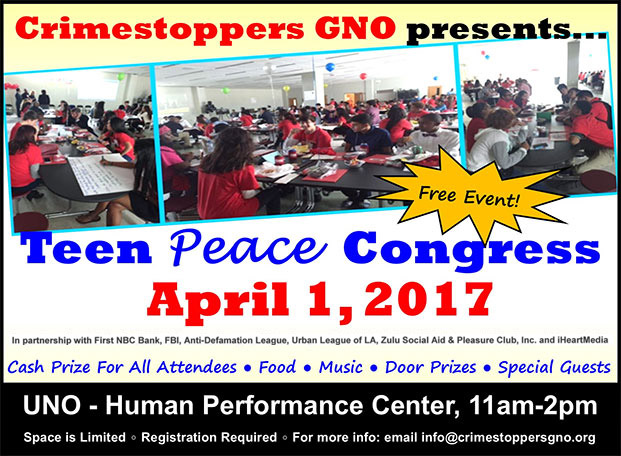 Teen Peace Congress - April 1rst, 2017
